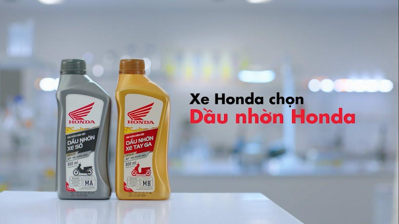 Dầu nhớt Honda tính năng ưu việt hơn - giá không đổi