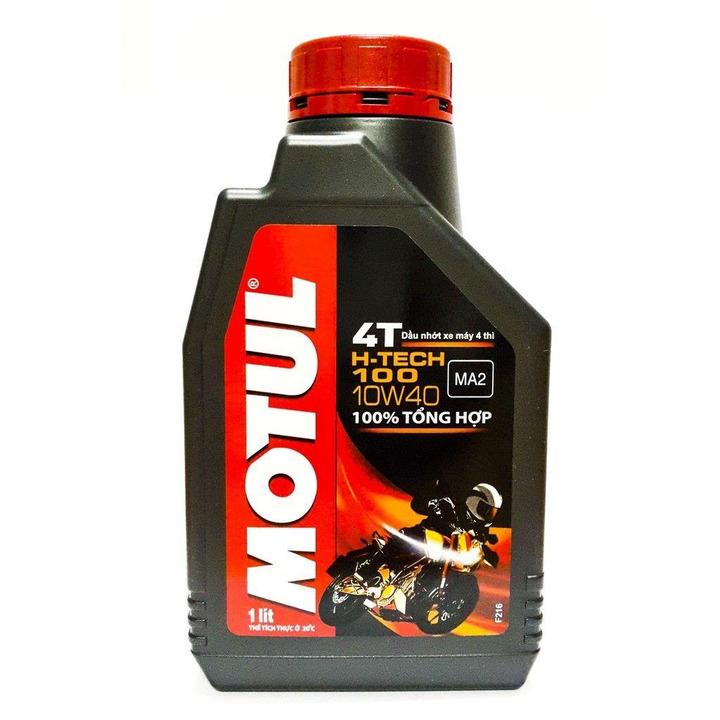 Dầu nhớt Motul H-Tech 100 4T 10W40 sở hữu nhiều tính năng phù hợp với động cơ xe số