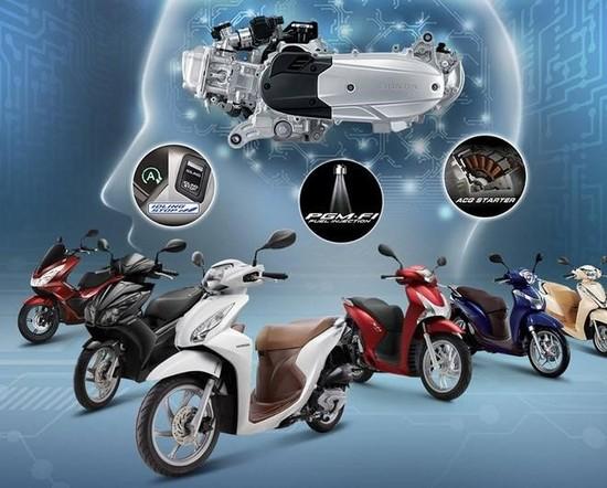Động cơ eSP được sử dụng trên các xe tay ga đời mới của Honda