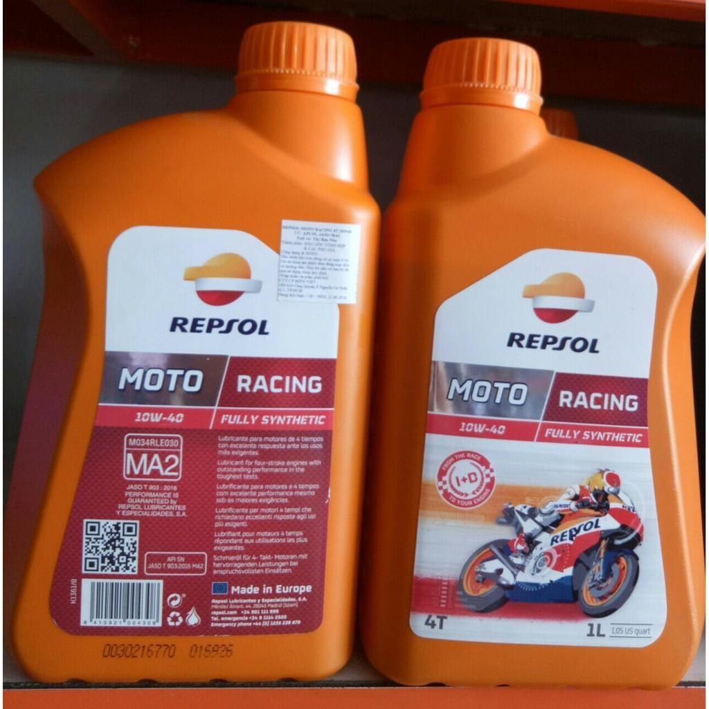 Repsol Racing 4T 10W40 là dầu nhớt tốt cho xe số và xe phân khối lớn