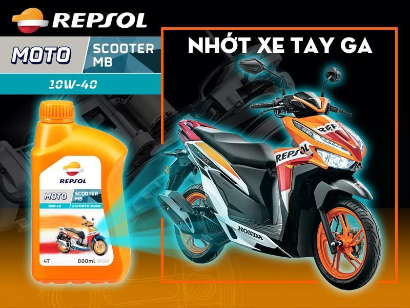 Dầu nhớt Repsol Moto Scooter MB 10W40 là sản phẩm chuyên dụng cho dòng xe tay ga