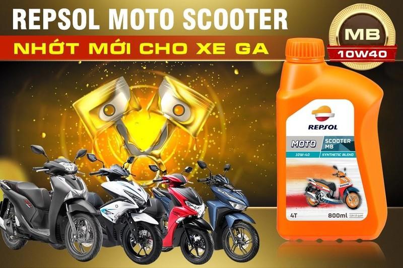 Repsol Moto Scooter MB 10W40 đảm bảo các tính năng vượt trội giúp xe tay ga hoạt động tốt với hiệu suất cao