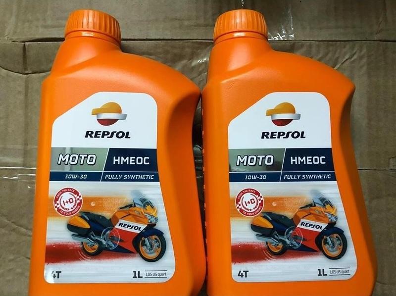 Repsol Moto HMEOC 4T 10W30 là dòng dầu nhớt đặc biệt dành cho xe 4T và moto phân khối lớn